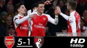Arsenal 5 - 1 Bournemouth (Feb-27-2019) Premier League Highlights